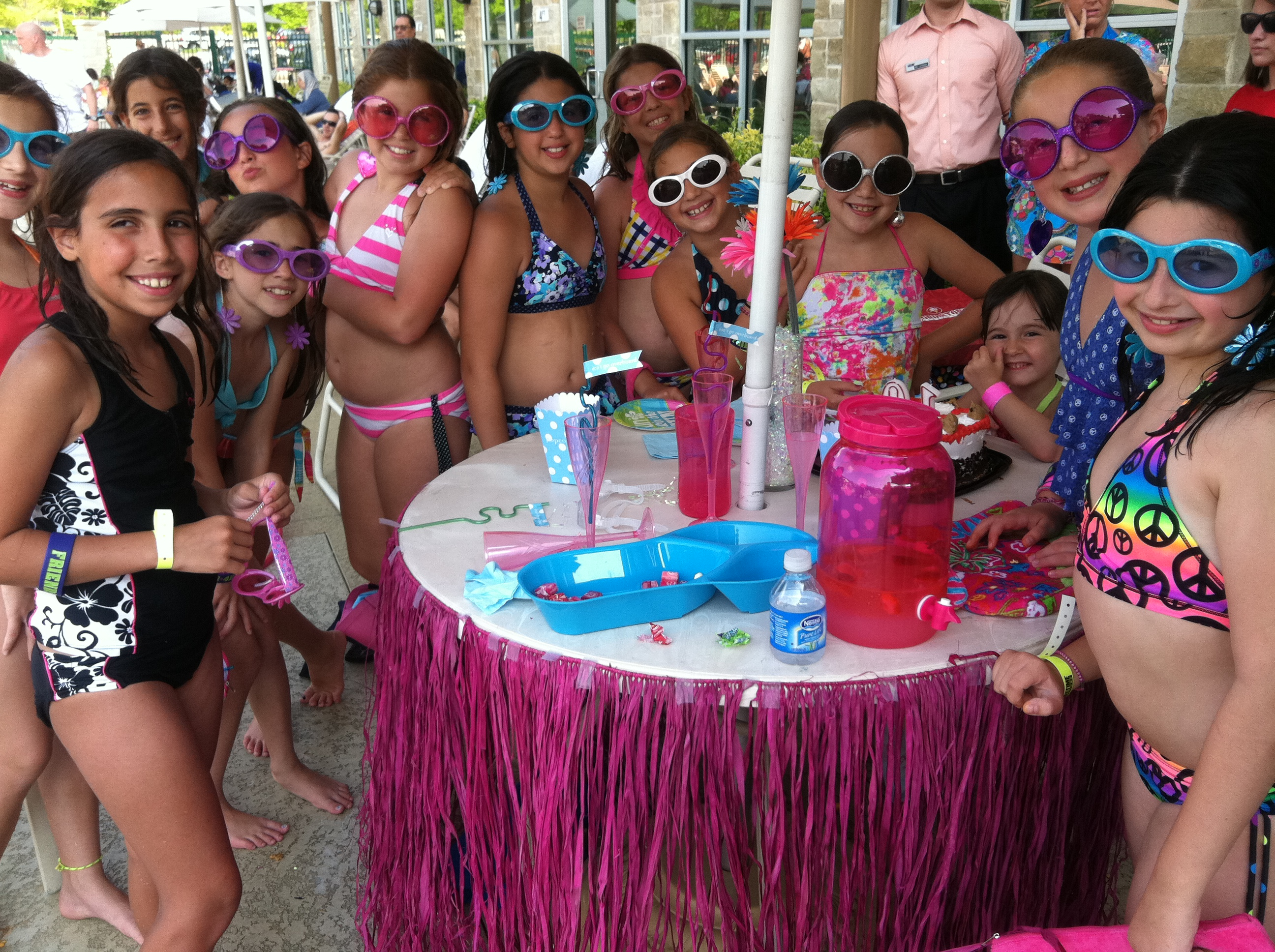 buckhead customer rachael throws a fabulous birthday party poolside
