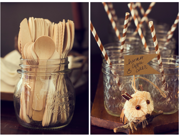 Wooden Utensils Paper Straws