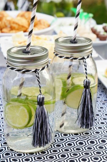 Mason Jars for Graduation Party